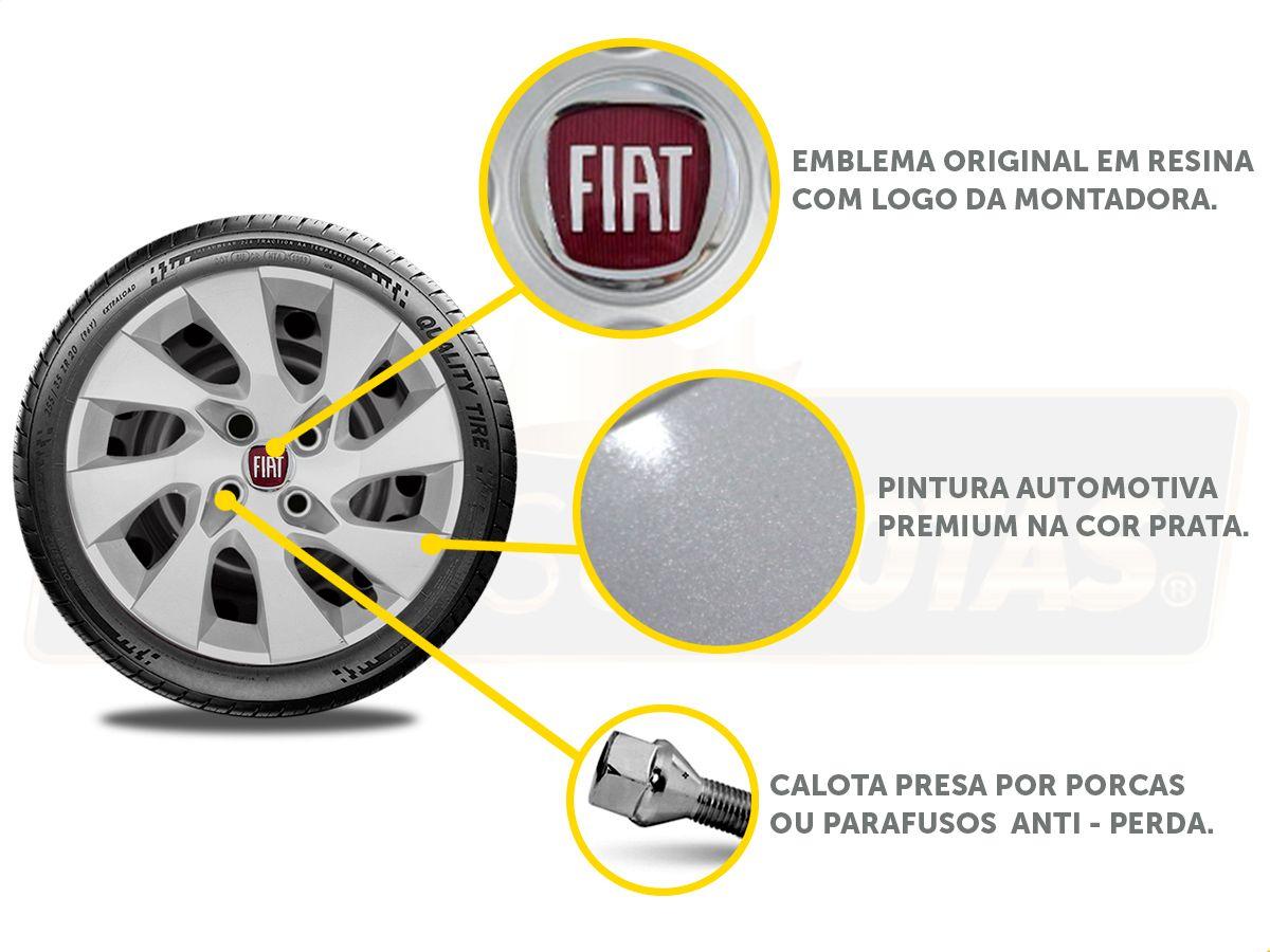 Jogo Calota Aro 15 Fiat Palio Siena Argo 2017 2019 G195JE