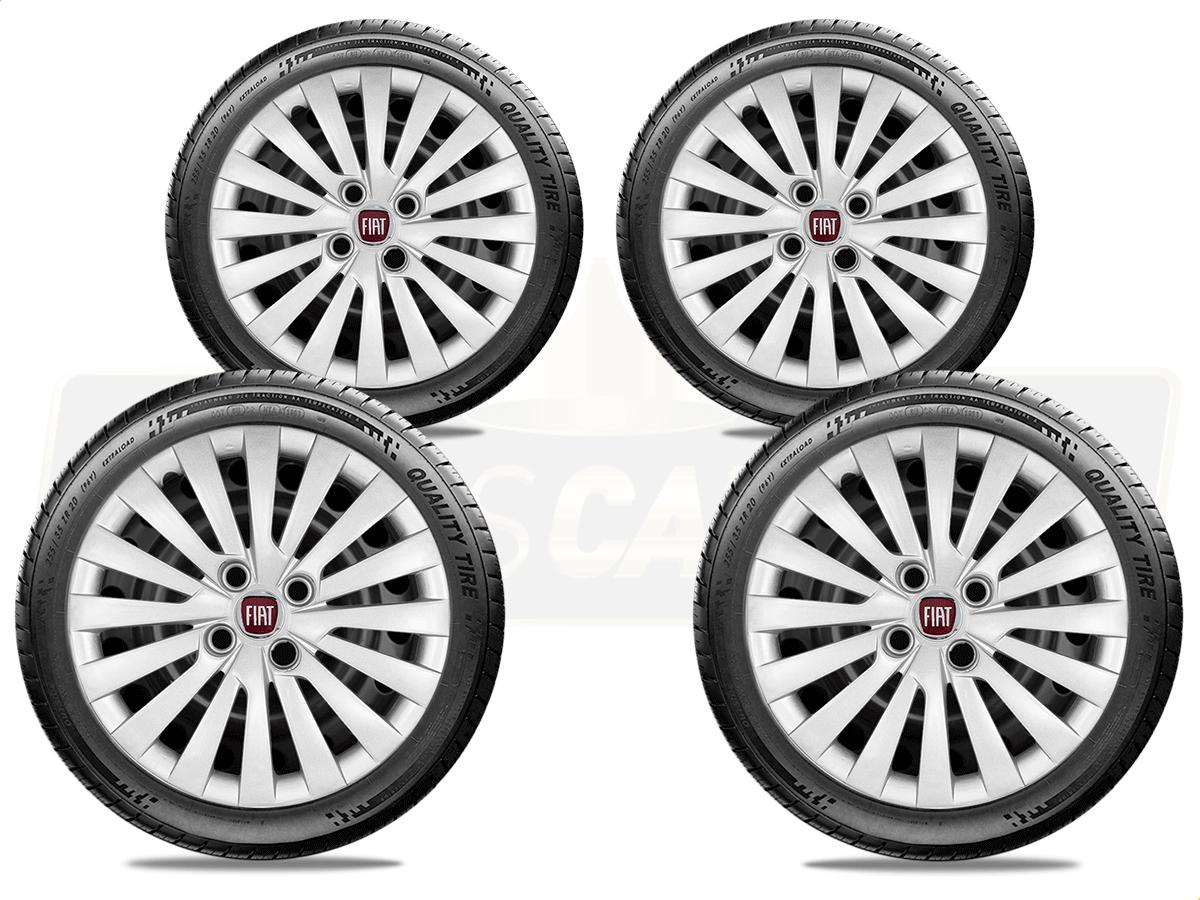 Jogo Calota Aro 15 Fiat Palio Siena Argo 2017 2019 G242JE