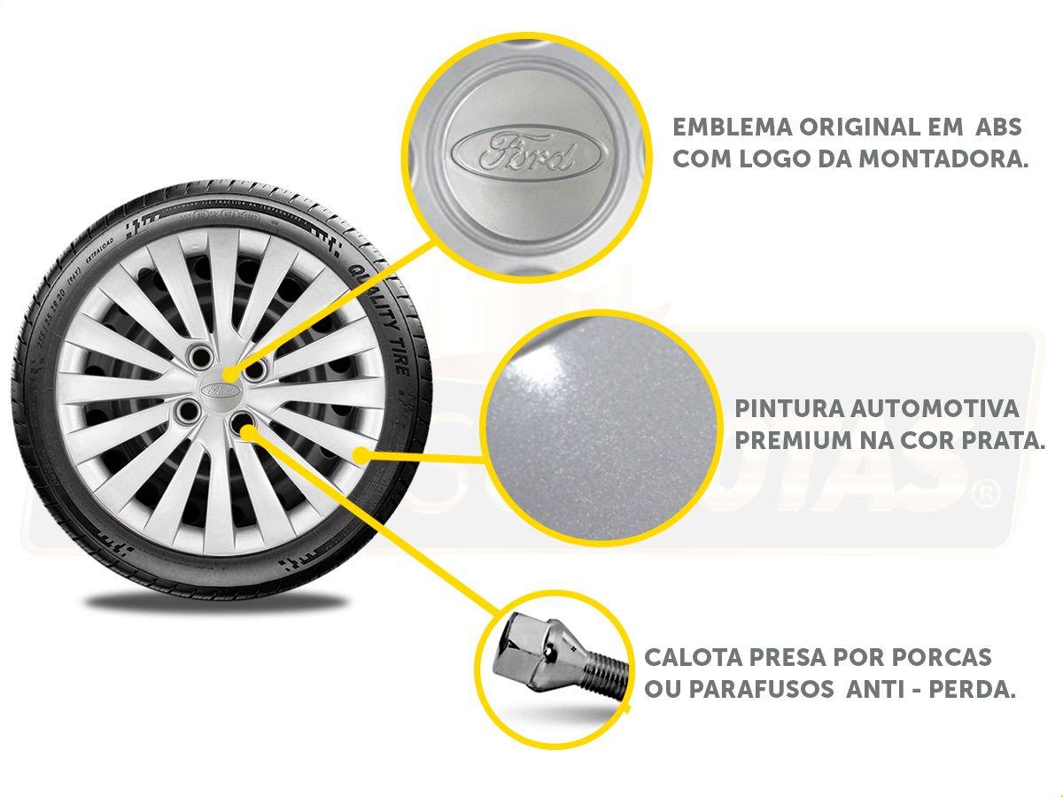 Jogo Calota Aro 15 Ford Ka Hatch Sedan 2016 2019 G242JE