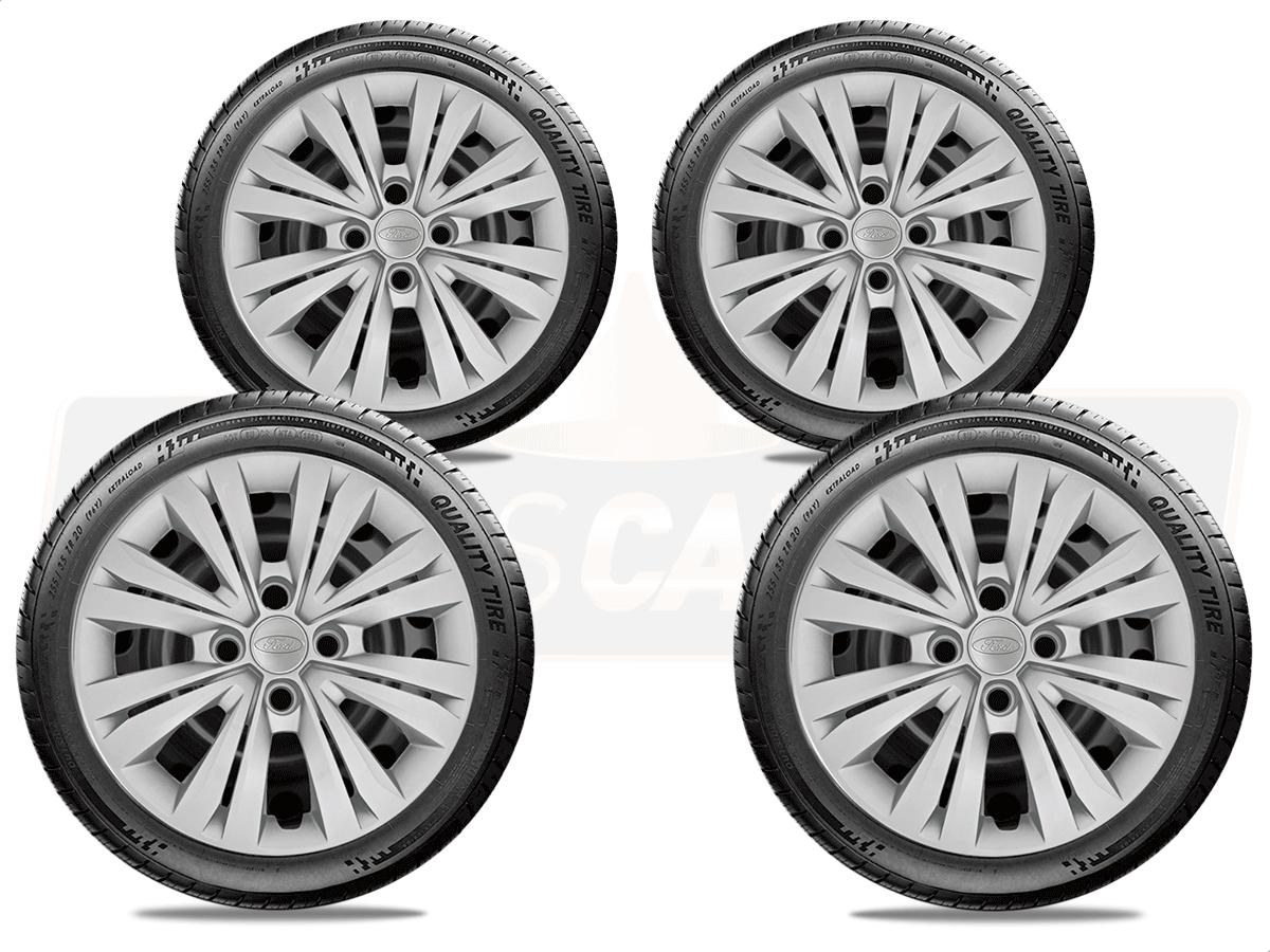 Jogo Calota Aro 15 Ford Ka Hatch Sedan 2016 2019 G246JE