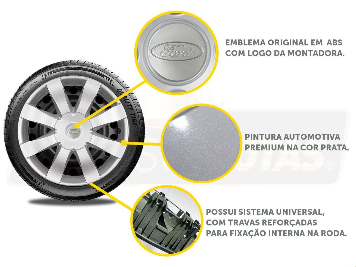 Jogo Calota Aro 15 Ford Ka Hatch Sedan 2016 2019 G875JE