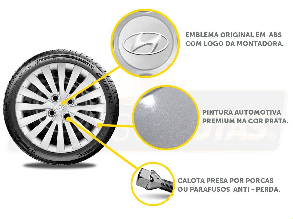 Jogo Calota Aro 15 Hyundai Hb20 Hatch Sedan 2013 2020 G242JE