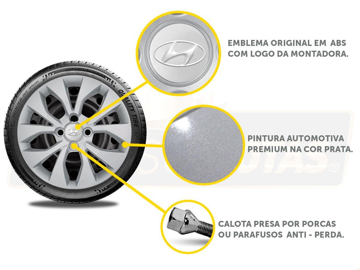 Jogo Calota Aro 15 Hyundai Hb20 Hatch Sedan 2013 2020 G375JE