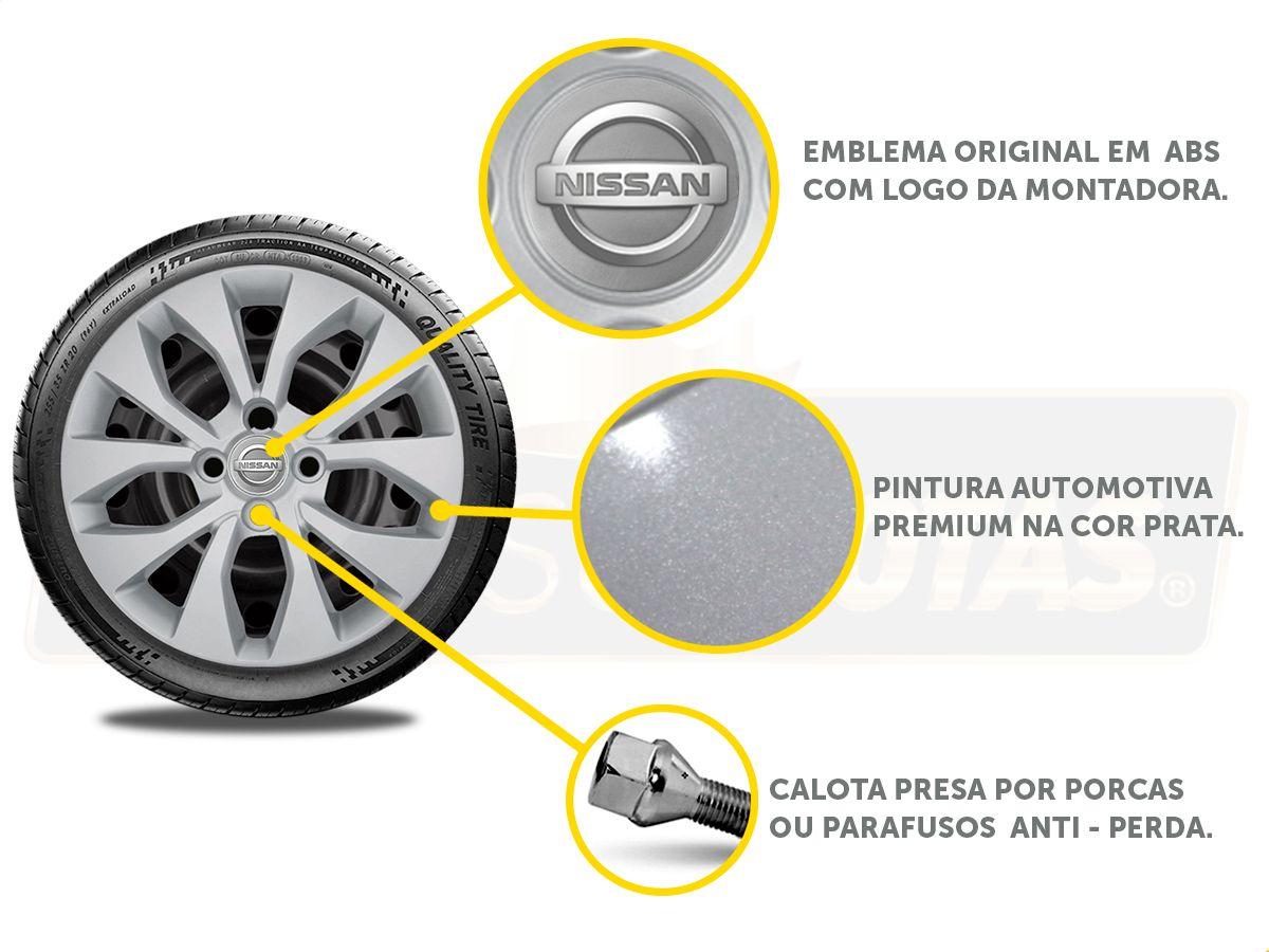 Jogo Calota Aro 15 Nissan March Versa 2013 2020 G375JE