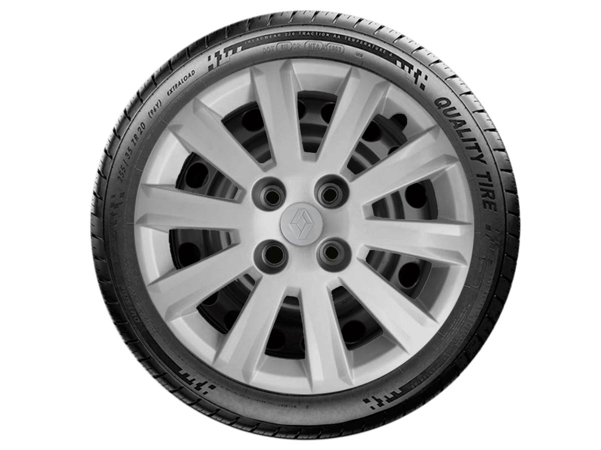 Jogo Calota Aro 15 Renault Sandero Logan 2018 2019 G018JE