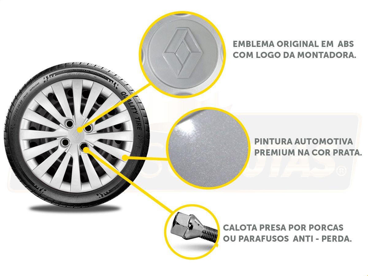 Jogo Calota Aro 15 Renault Sandero Logan 2018 2019 G242JE