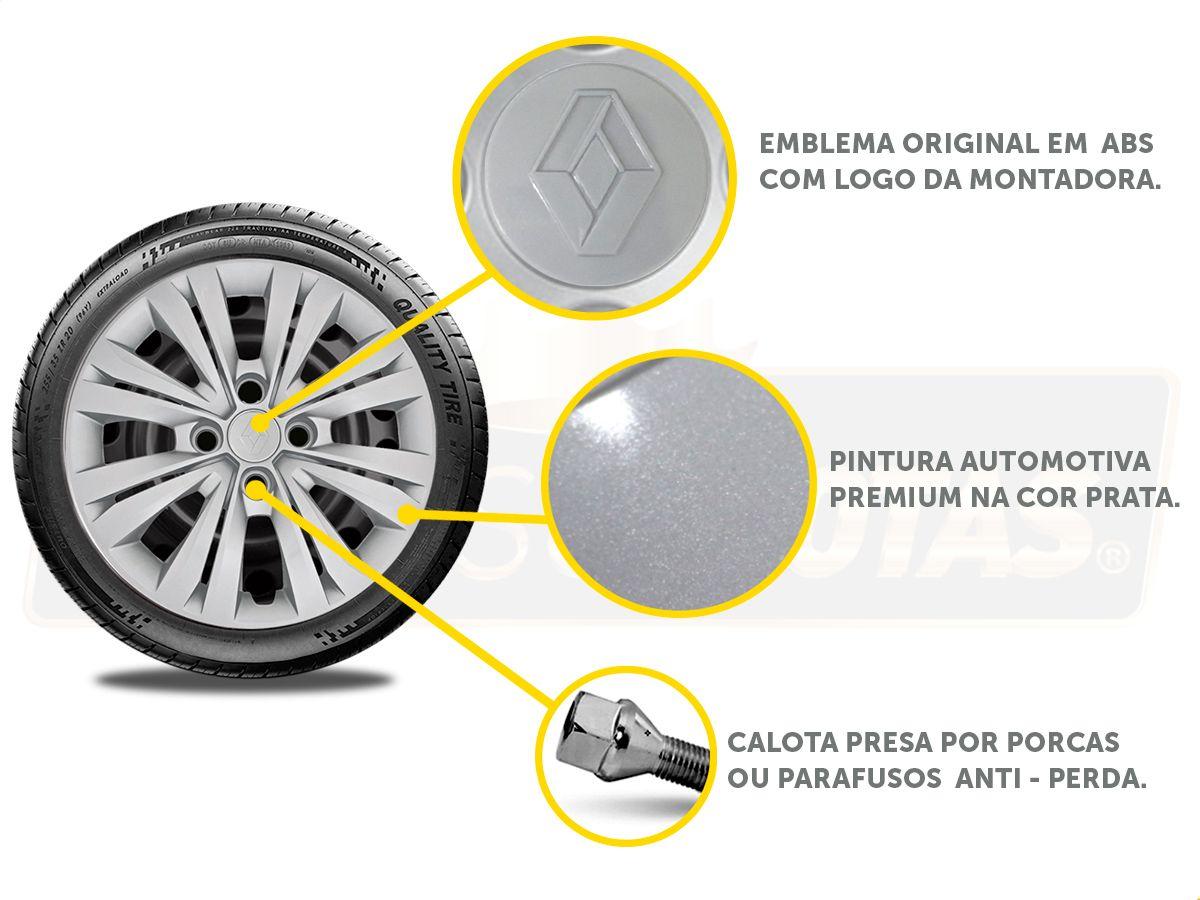 Jogo Calota Aro 15 Renault Sandero Logan 2018 2019 G246JE