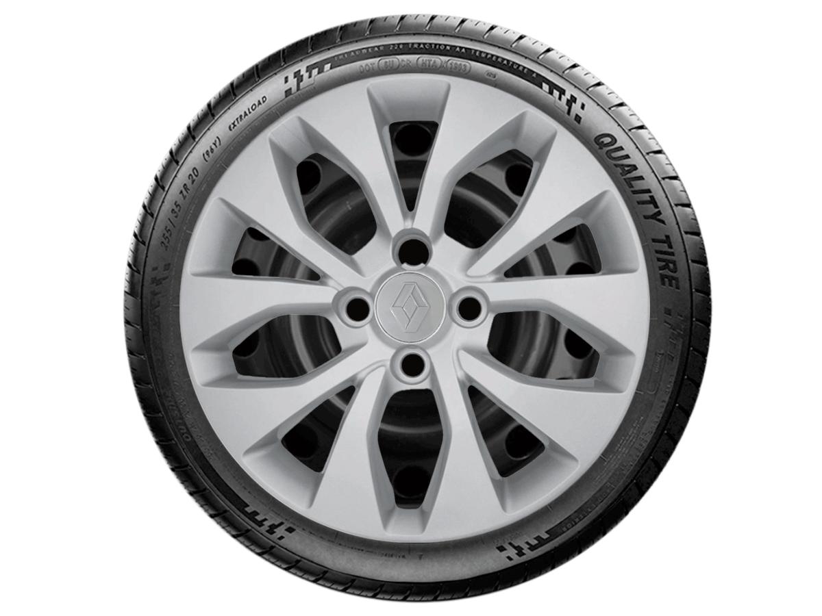 Jogo Calota Aro 15 Renault Sandero Logan 2018 2019 G375JE