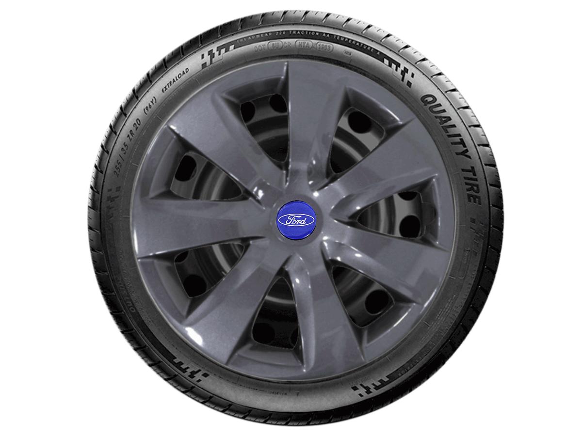 Jogo Calota Grafite Aro 14 Ford Ka 2016... G461GFJE