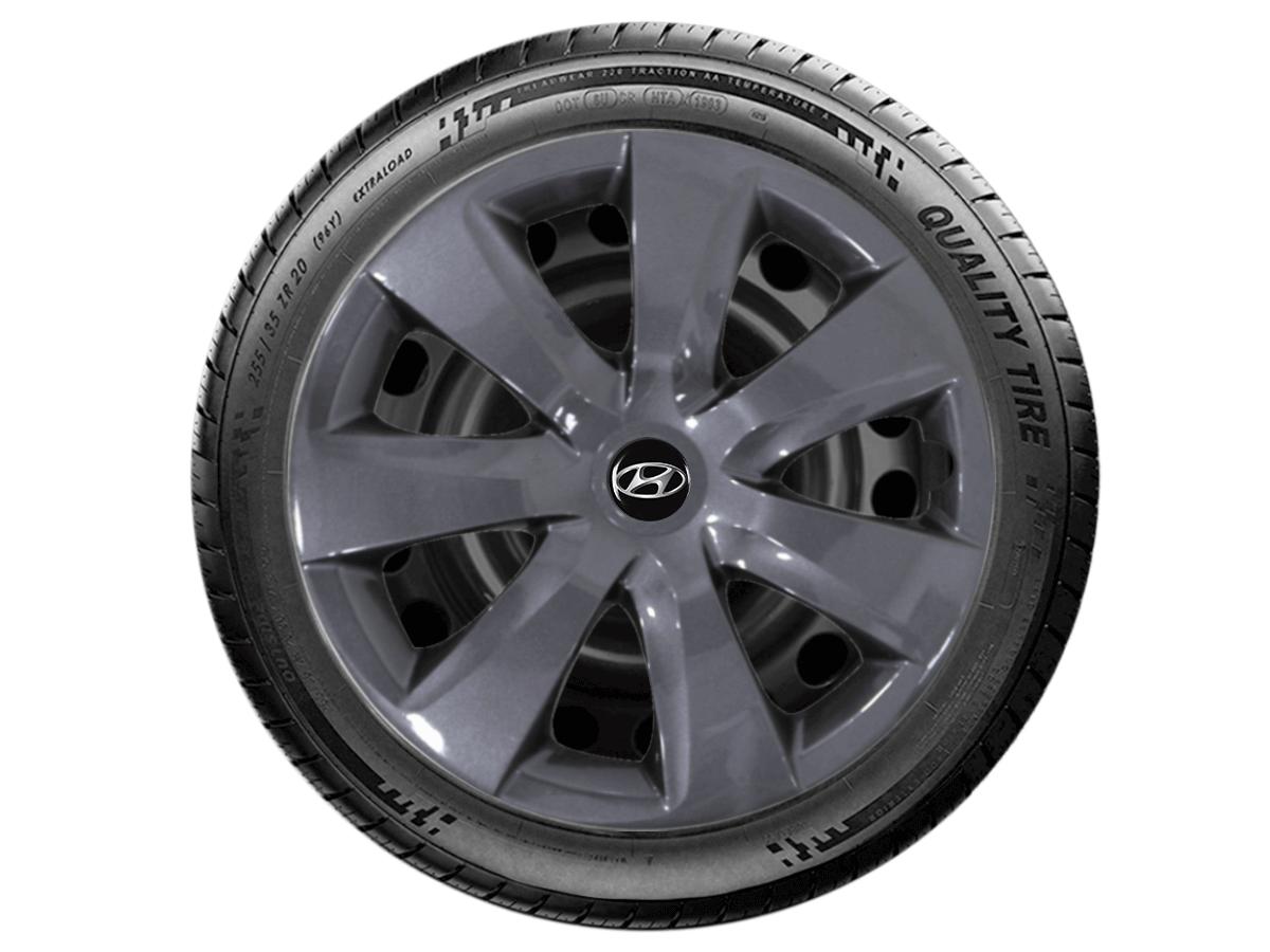 Jogo Calota Grafite Aro 14 Hb20 Hatch Sedan 2013... G461GFJE