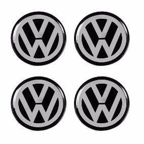 Jogo com 4 peças de Emblema Volkswagen 50mm