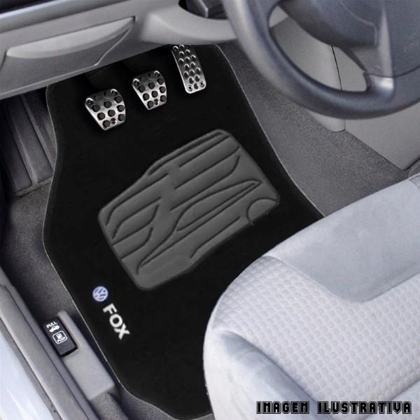 Jogo De Tapete Carpete 5 Peças Volkswagen Fox Grafite