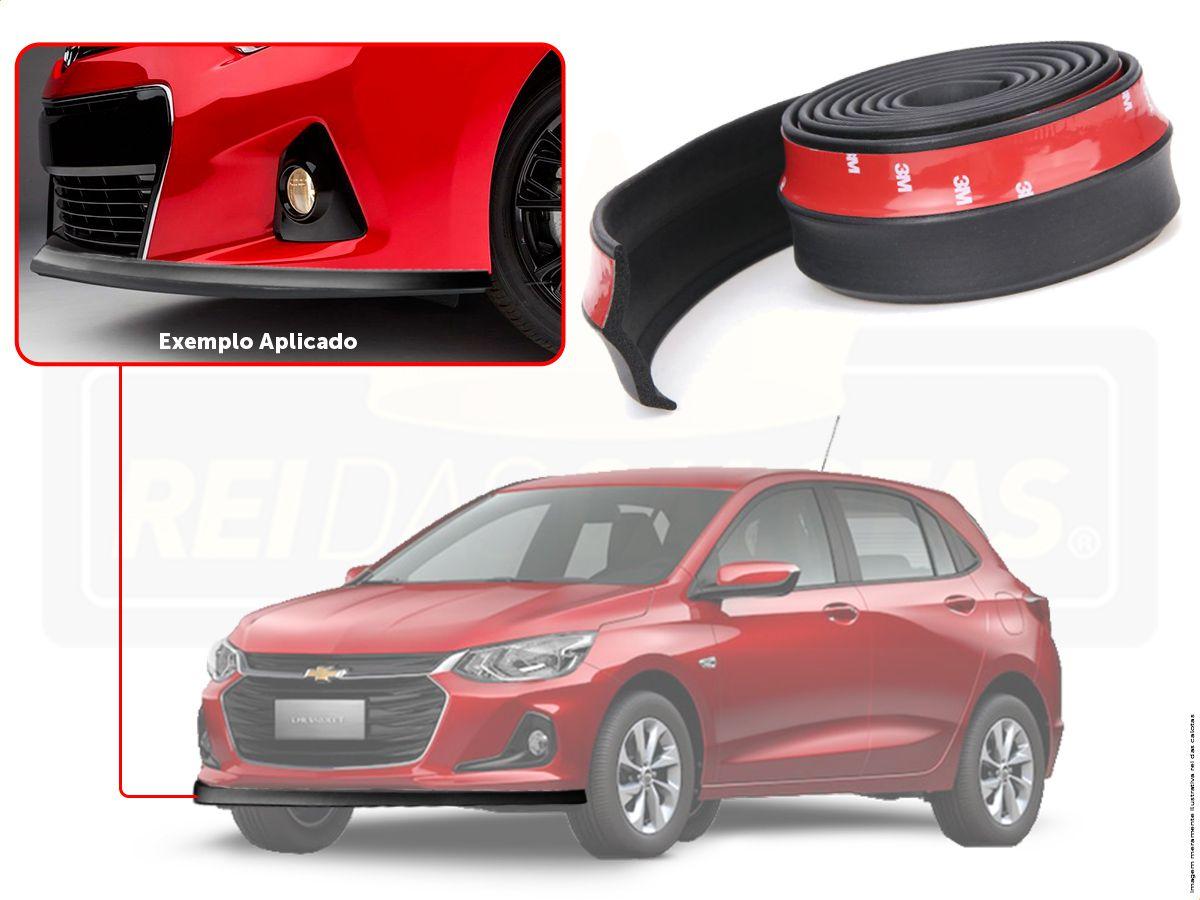 Kit Chevrolet Onix Hatch Nova Geração Friso Adesivo R-Design Laranja + Soleira Ltz + Spoiler Front Lip