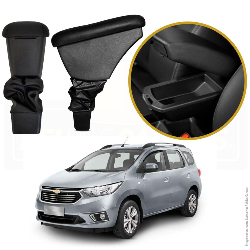 Kit Chevrolet Spin Apoio de braço + Calha De chuva  + Soleira de aço Inox