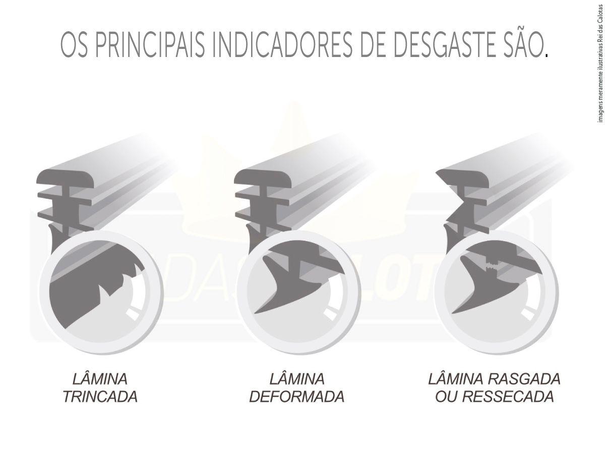 Kit de Palhetas Limpador de Parabrisa Fiat Linea 2008 2009 2010 2011 2012 2013