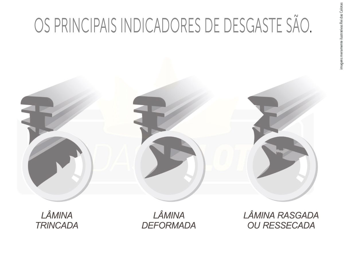 Kit de Palhetas Limpador de Parabrisa Ford Fusion 2006 2007 2008 2009 2010 2011 2012
