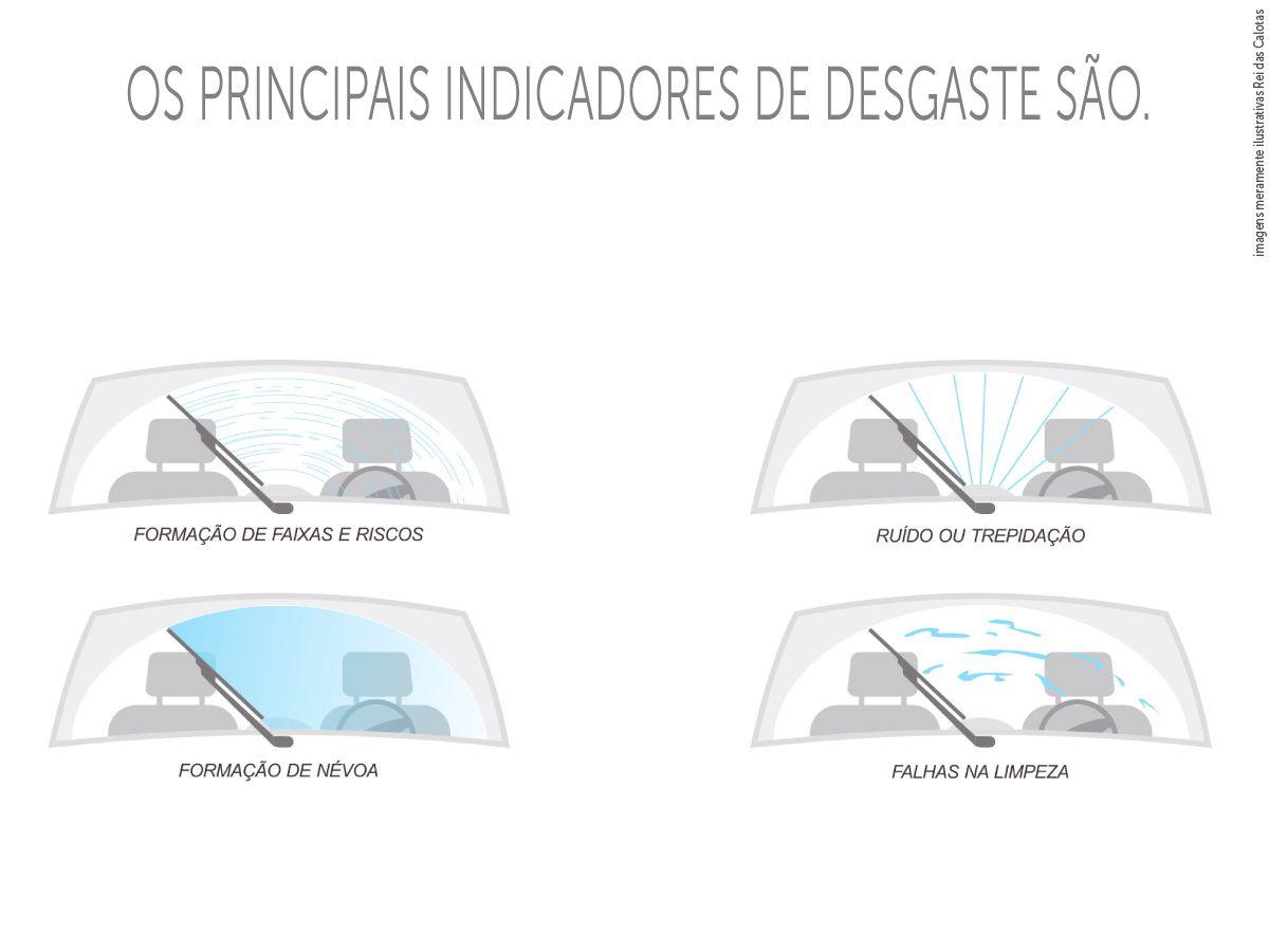 Kit de Palhetas Limpador de Parabrisa New Civic 2007 2018 2019 2010 2011