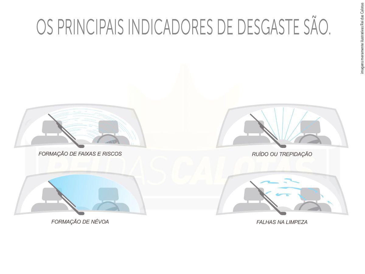 Kit de Palhetas Limpadoras de Parabrisa Volkswagen Fox 2003 2004 2005 2006 2007 2008 2009 2010 2011 2012