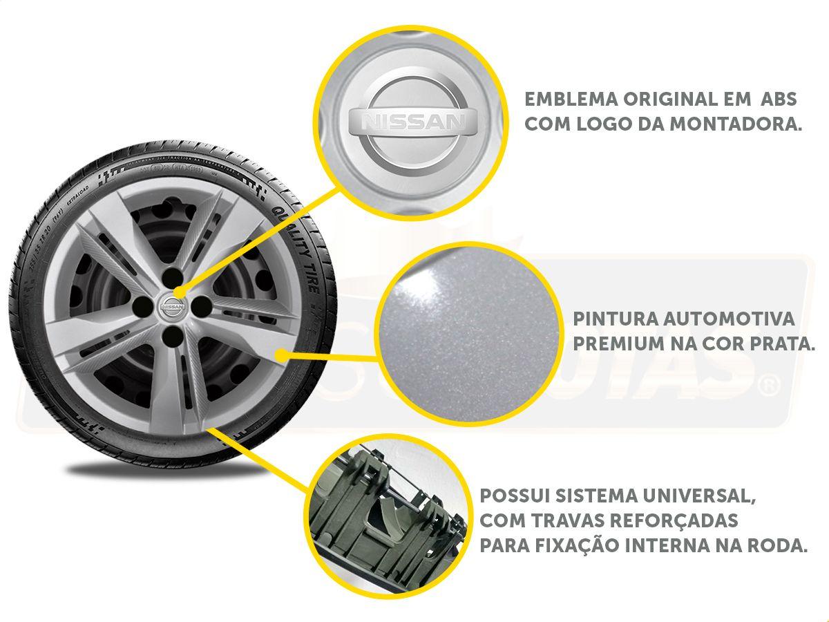 Kit Nissan Kicks Calota Original 1 Peça + Apoio De Braço