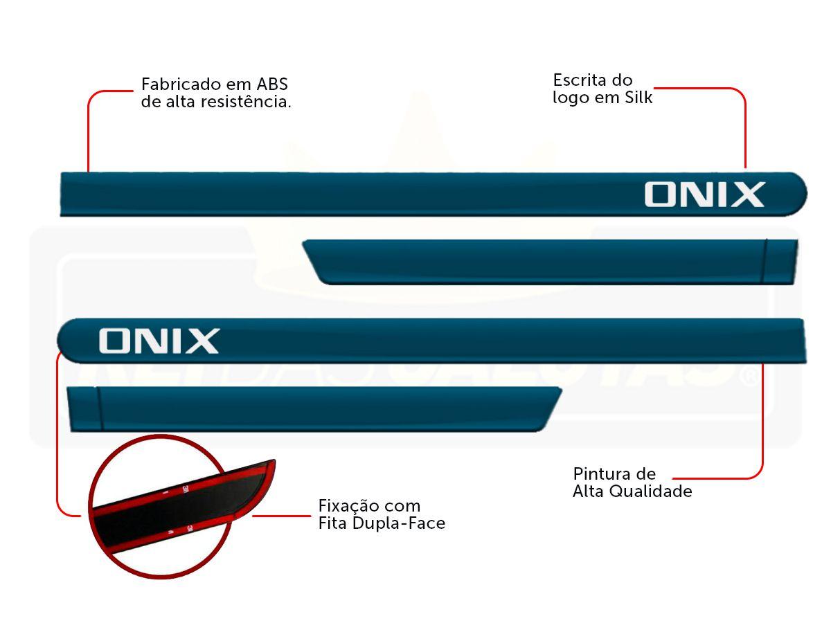Kit Novo Onix Hatch 2020 Tapete E Friso Azul Seeker