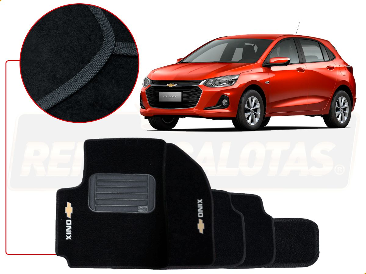 Kit Novo Onix Hatch 2020 Tapete E Friso Laranja Tiger