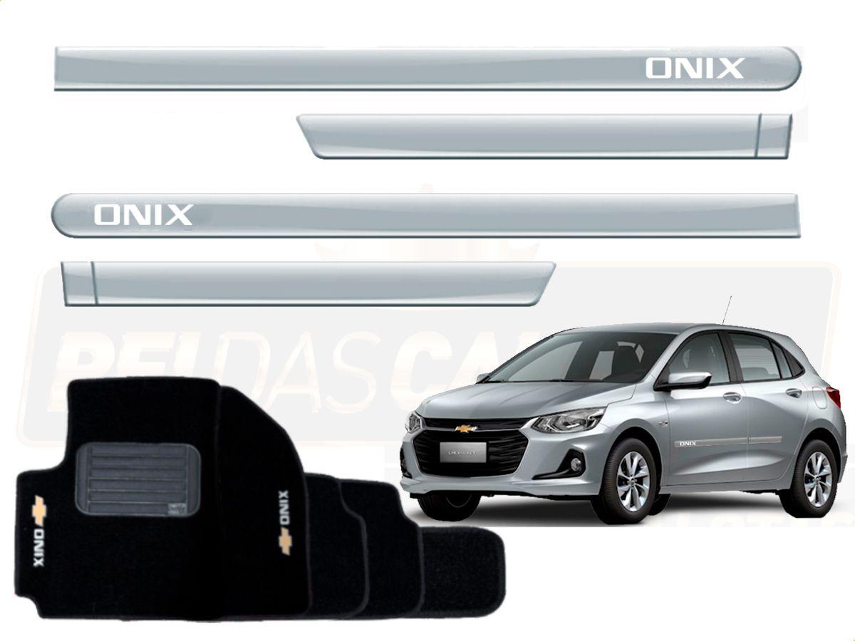 Kit Novo Onix Hatch 2020 Tapete E Friso Prata Switchblade