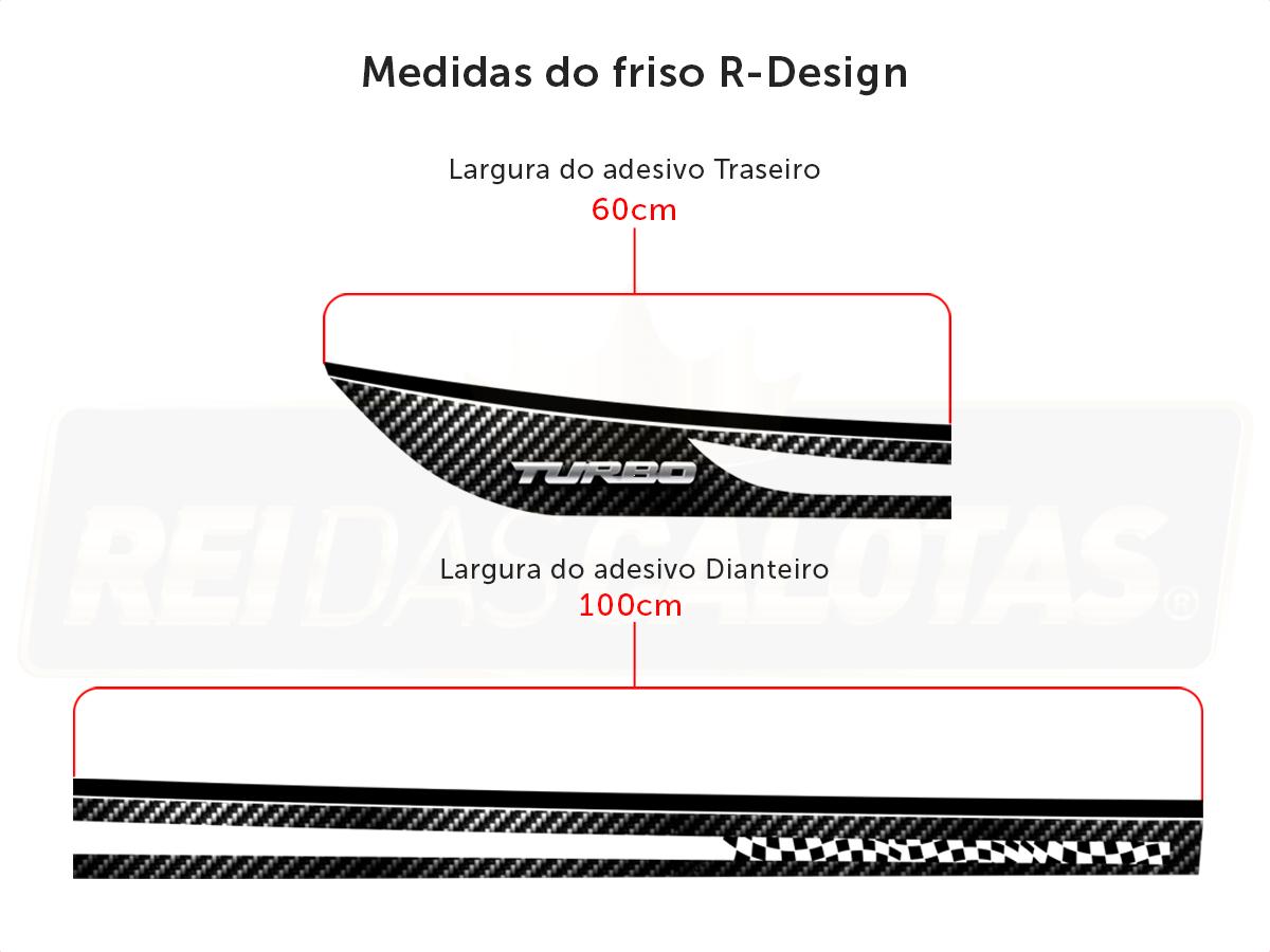 Kit Onix C/4 Calota Preta Soleira Adesivo R-Design Vermelho