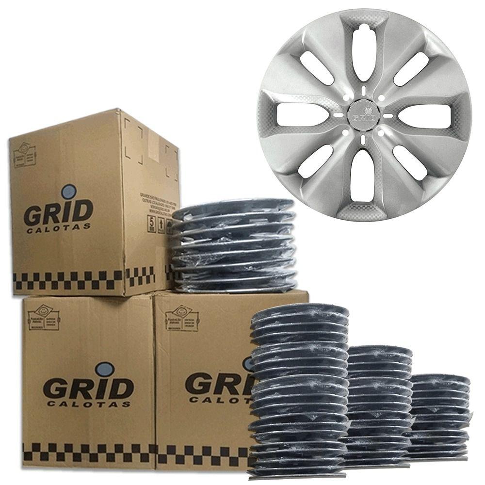 Lote Kit De Calotas Para Revenda Com 12pçs Aro 15 Grid G130k