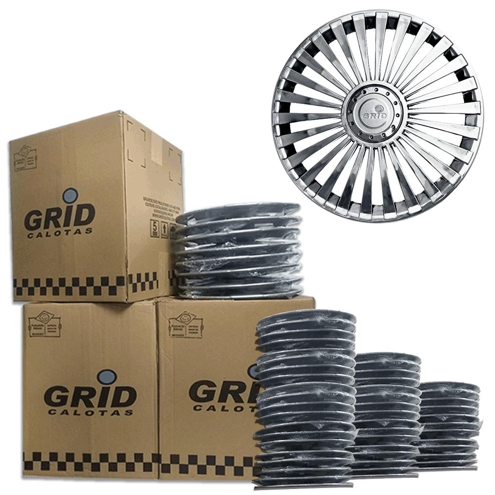 Lote Kit De Calotas Para Revenda Com 12pçs Aro 13 Grid G075CHRk