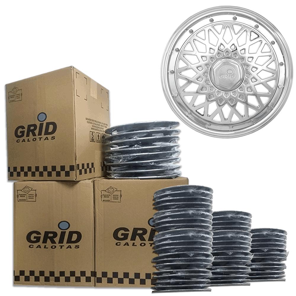 Lote Kit De Calotas Para Revenda Com 12pçs Aro 13 Grid G600CHRk