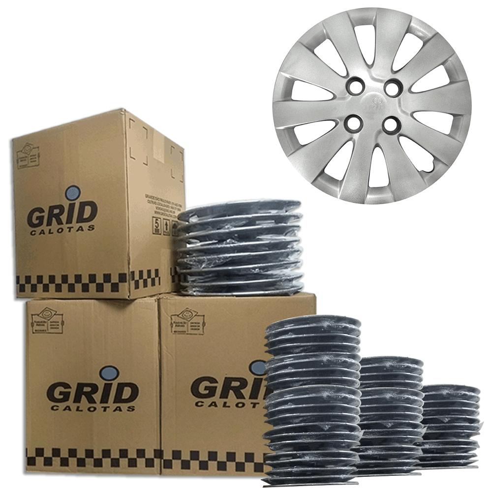 Lote Kit De Calotas Para Revenda Com 12pçs Aro 14 Grid G185k