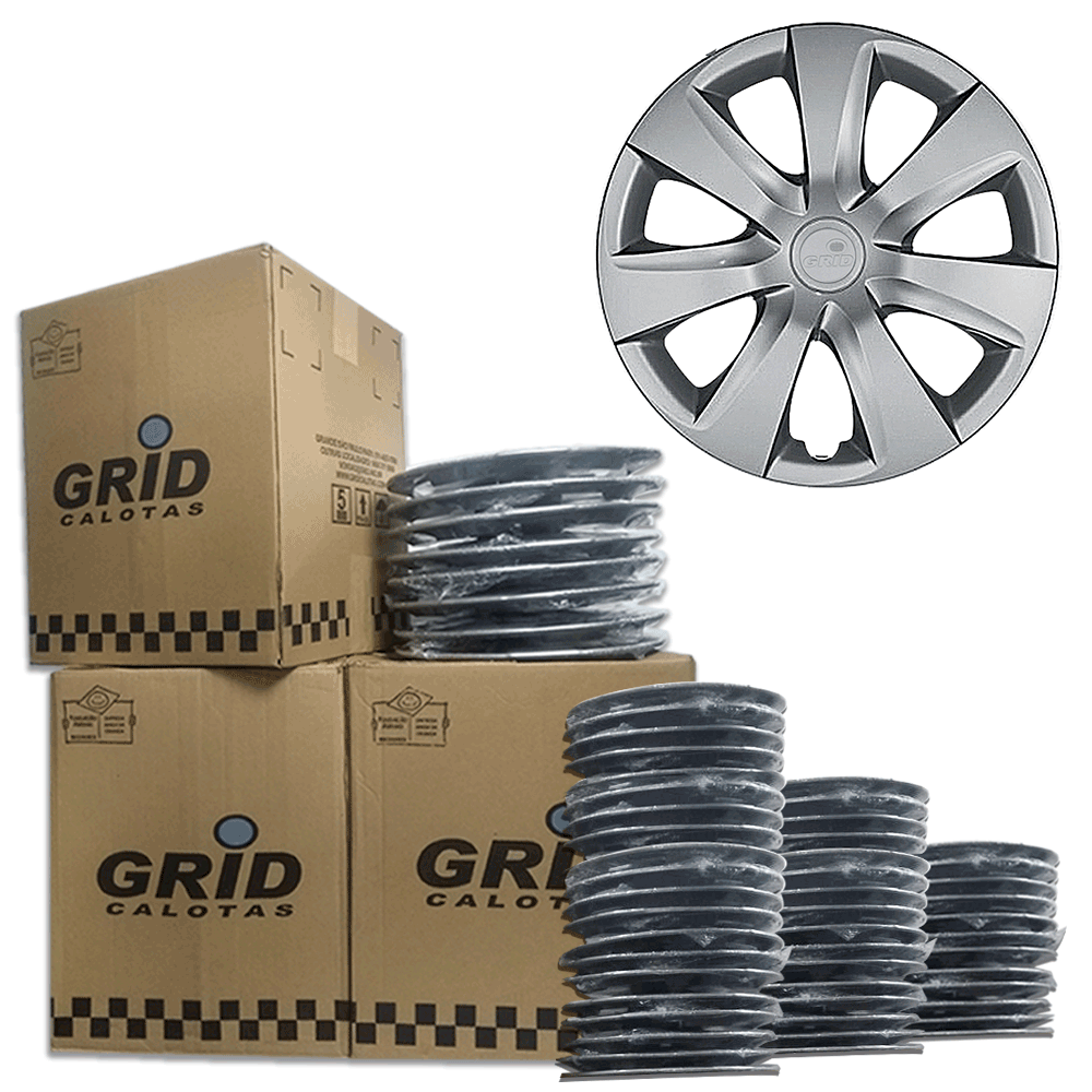 Lote Kit De Calotas Para Revenda Com 12pçs Aro 14 Grid G461k