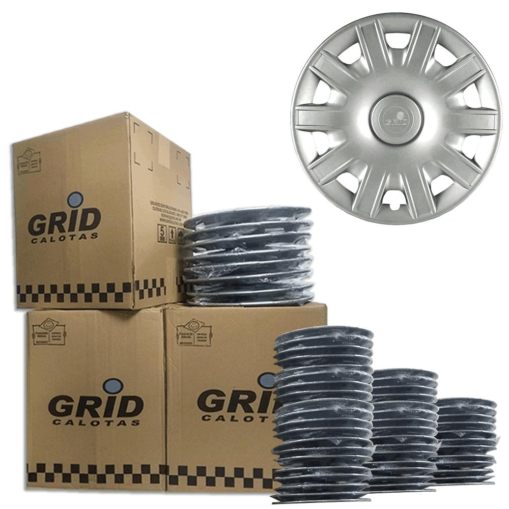 Lote Kit De Calotas Para Revenda Com 12pçs Aro 15 Grid G063k