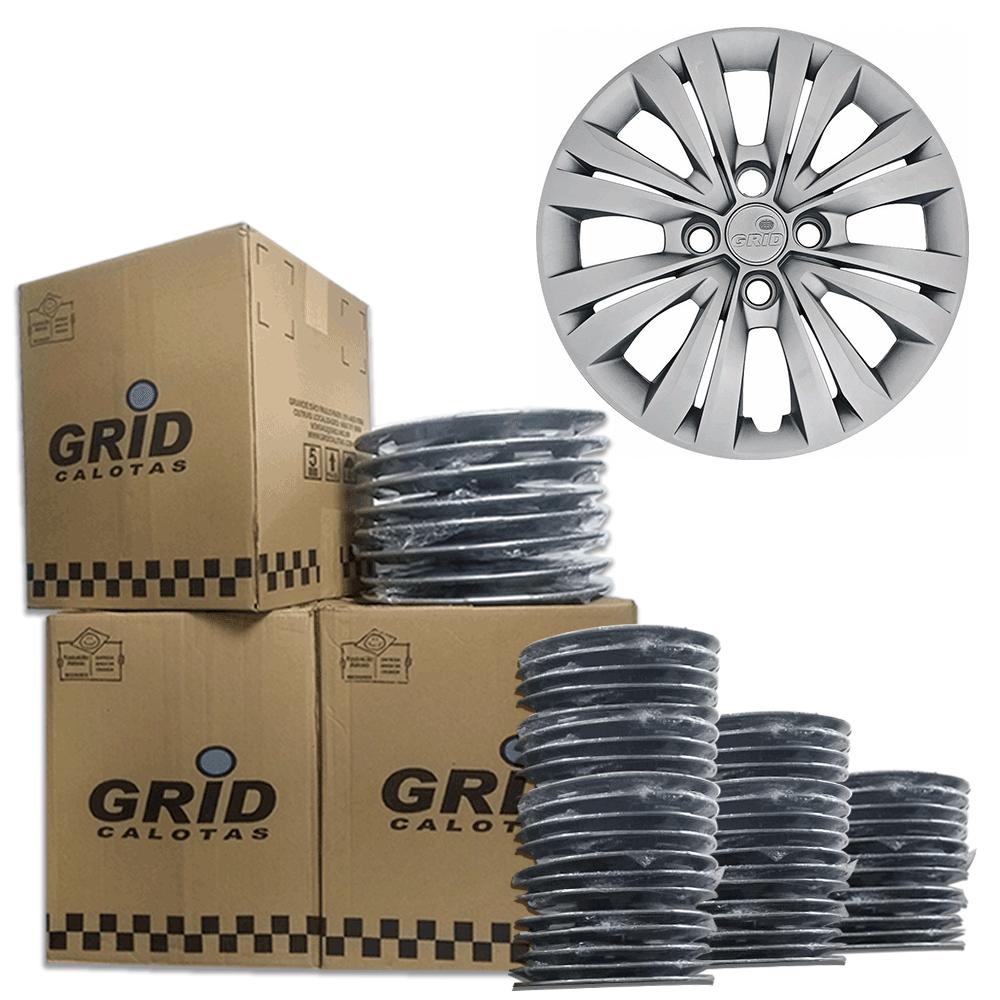Lote Kit De Calotas Para Revenda Com 12pçs Aro 15 Grid G246k
