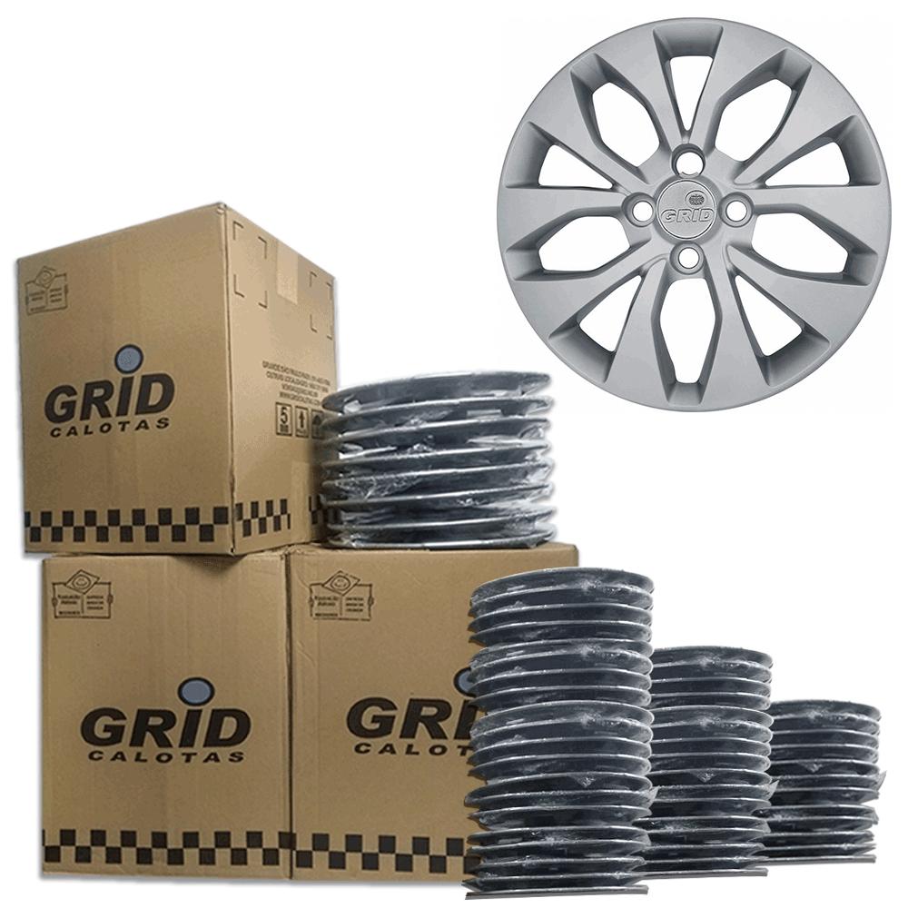 Lote Kit De Calotas Para Revenda Com 12pçs Aro 15 Grid G375CPK