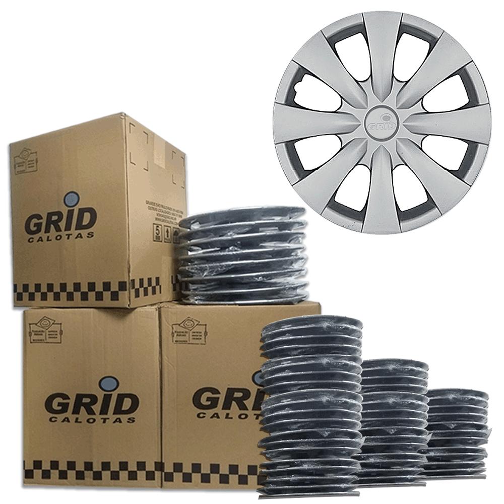 Lote Kit De Calotas Para Revenda Com 12pçs Aro 15 Grid G460k