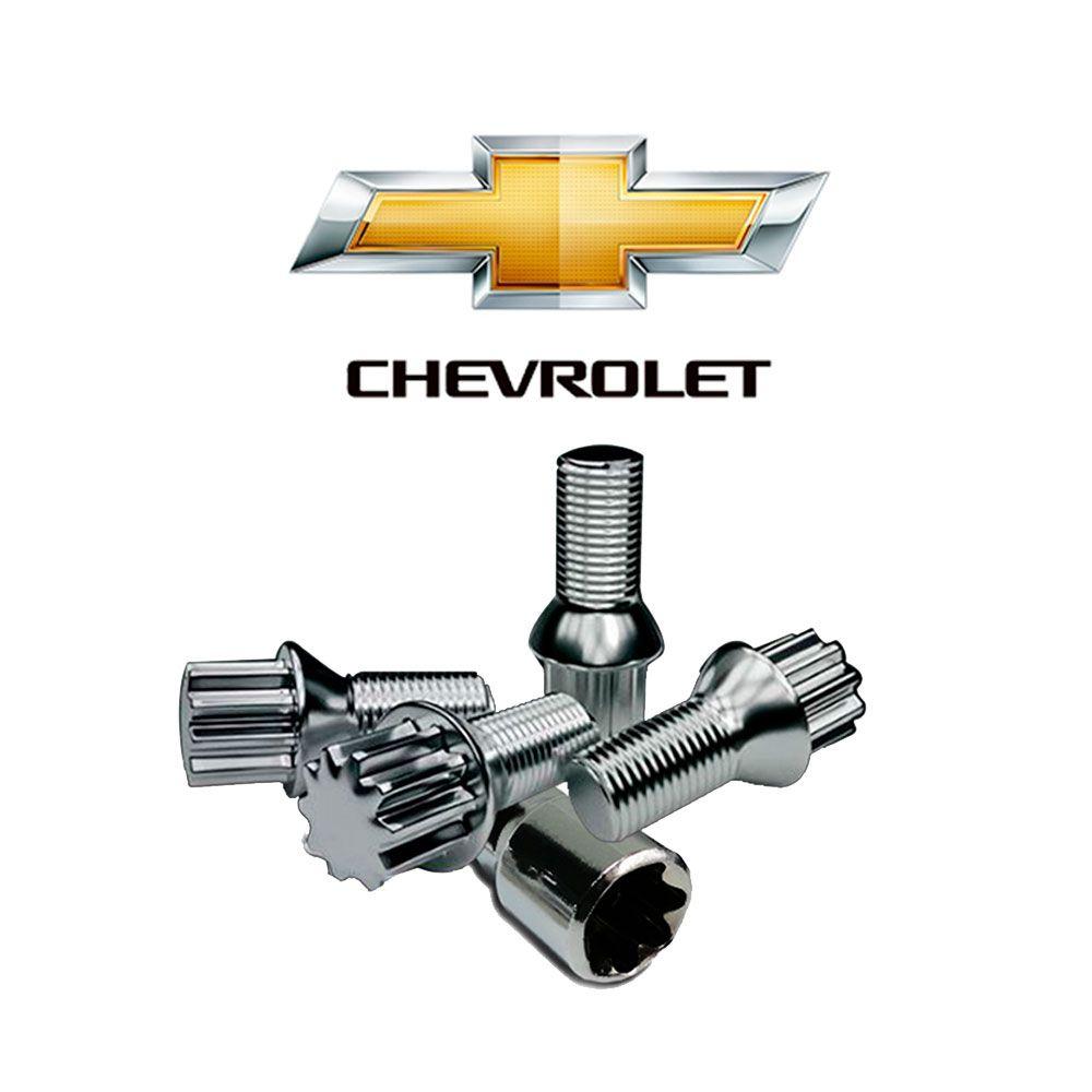 Parafuso Anti Furto Cromado Chevrolet Corsa Celta Meriva Vectra Classic
