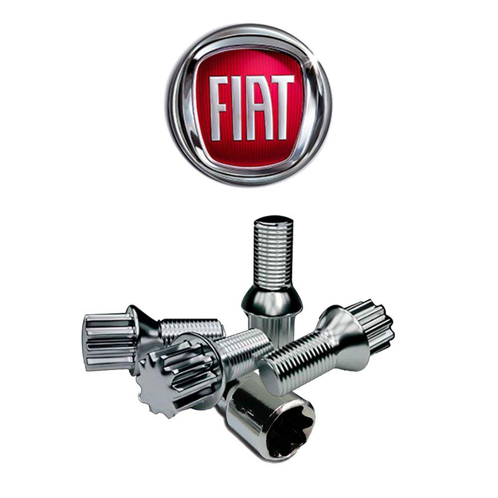 Parafuso Anti Furto Cromado Fiat Palio Siena Uno Punto Idea Doblo