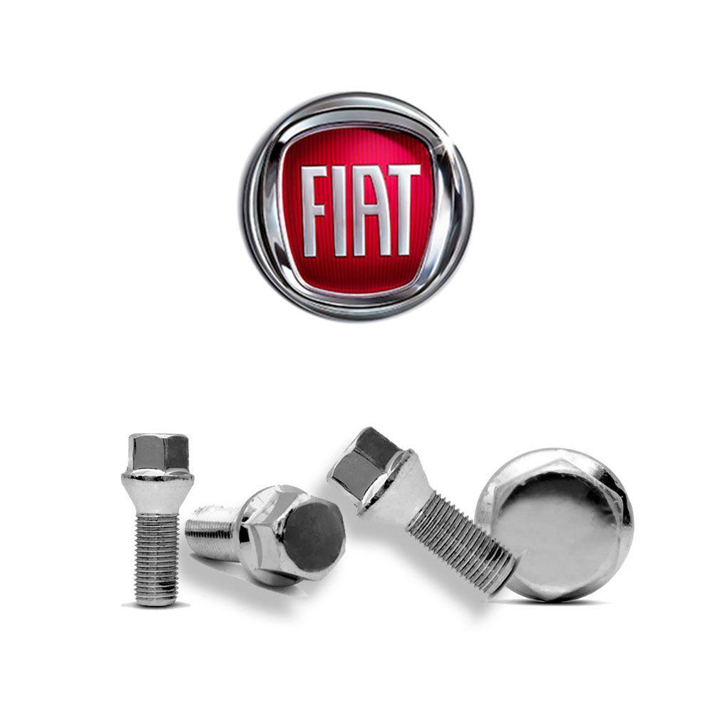 Parafusos Roda Cromado Fiat Palio Uno Siena Punto Idea Stilo