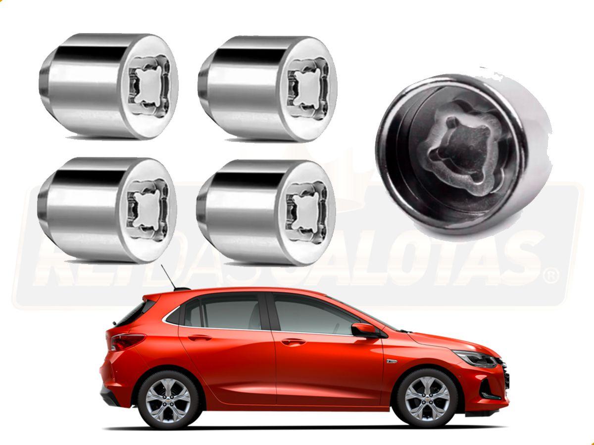 Porca Anti Furto 4pçs Chevrolet Onix Hatch Nova geração 2020 2021