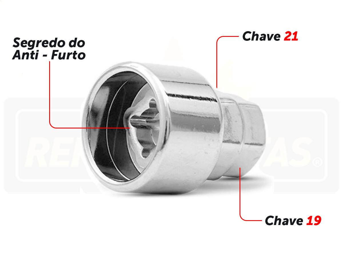 Porca Anti Furto Security Chevrolet Onix Plus 4pçs 2020 2021