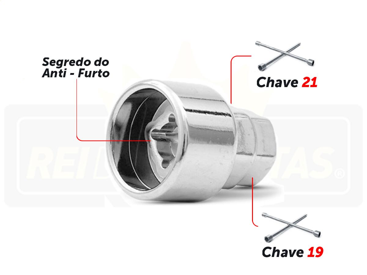 Porca Anti Furto Security Chevrolet Novo Onix Hatch 4Pçs 2020 2021