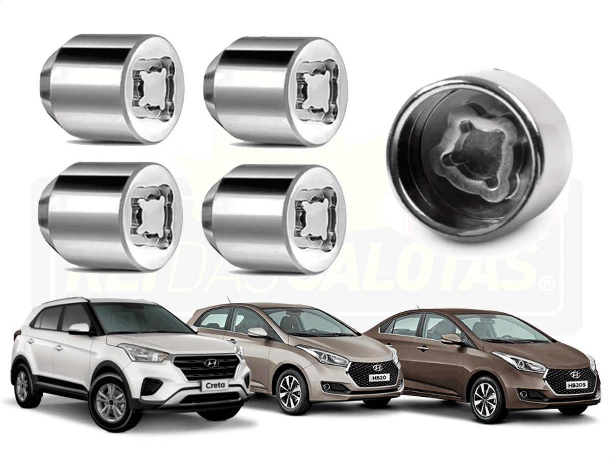 Porca Anti Furto Security Hyundai Creta Hb20 4pçs 2019 2020