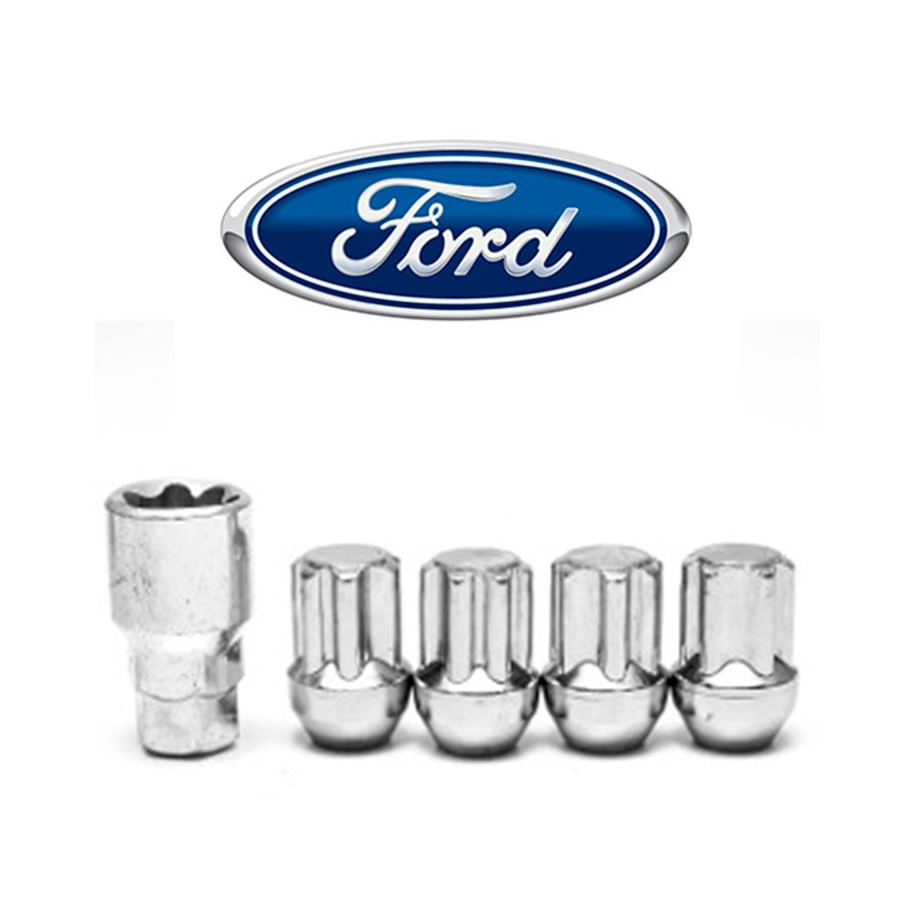 Porcas Anti Furto Cromada Ford Fiesta ká Focus EcoSport