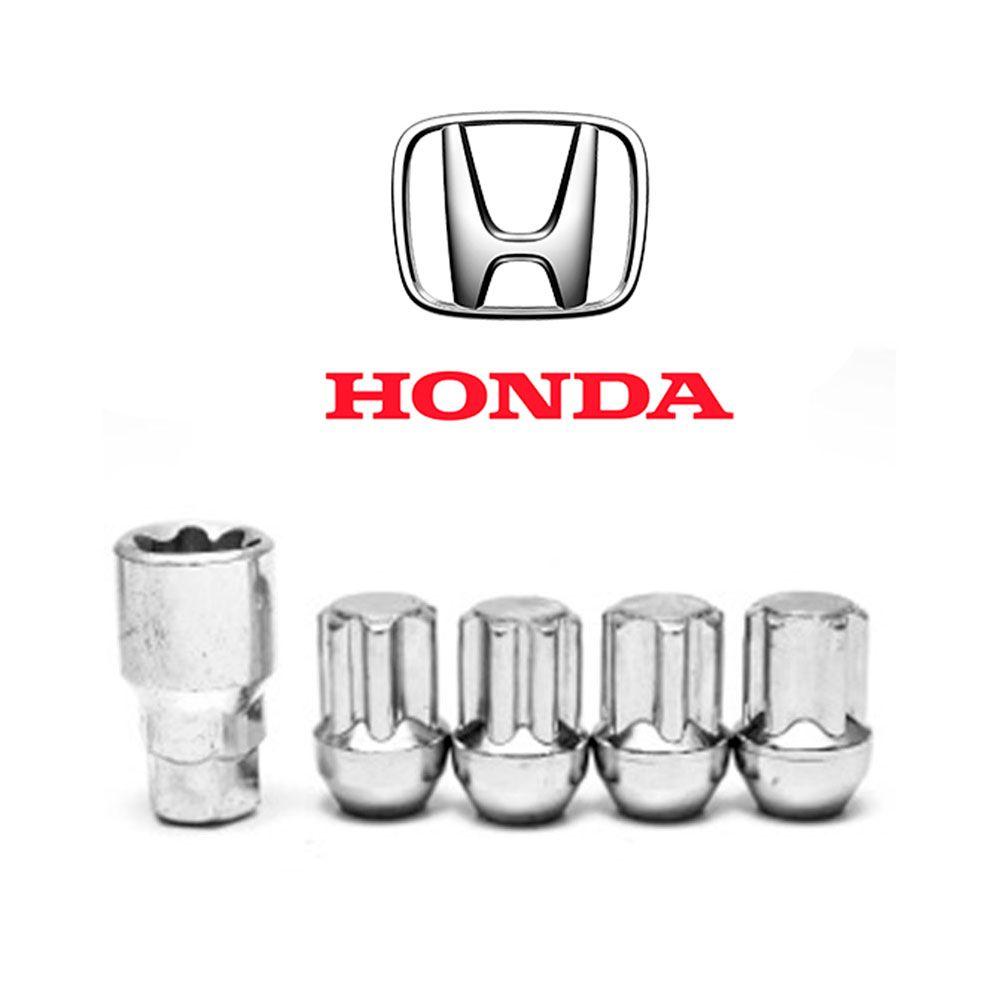 Porcas Anti Furto Cromada Honda New Fit City