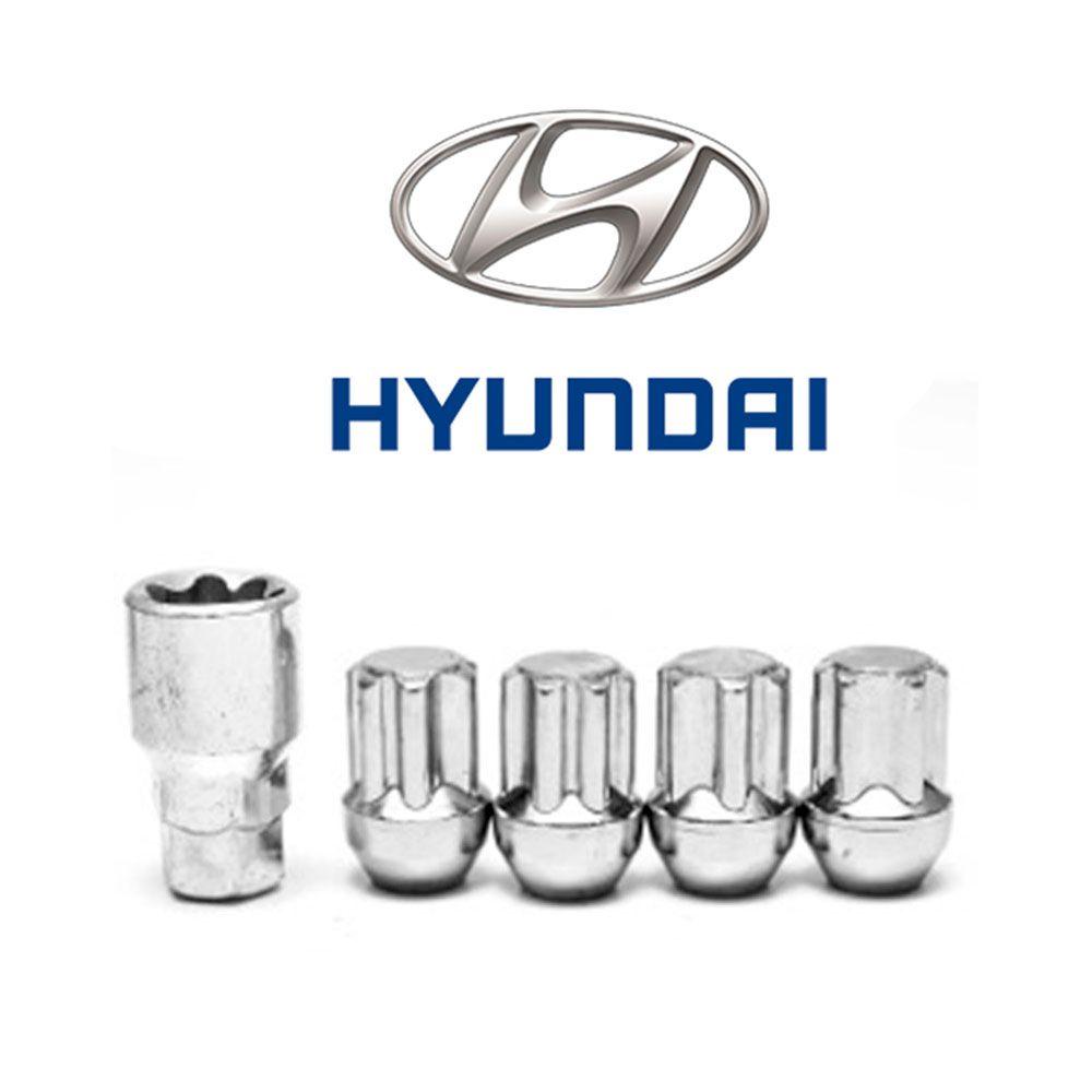 Porcas Anti Furto Cromada Hyundai HB20s HB20