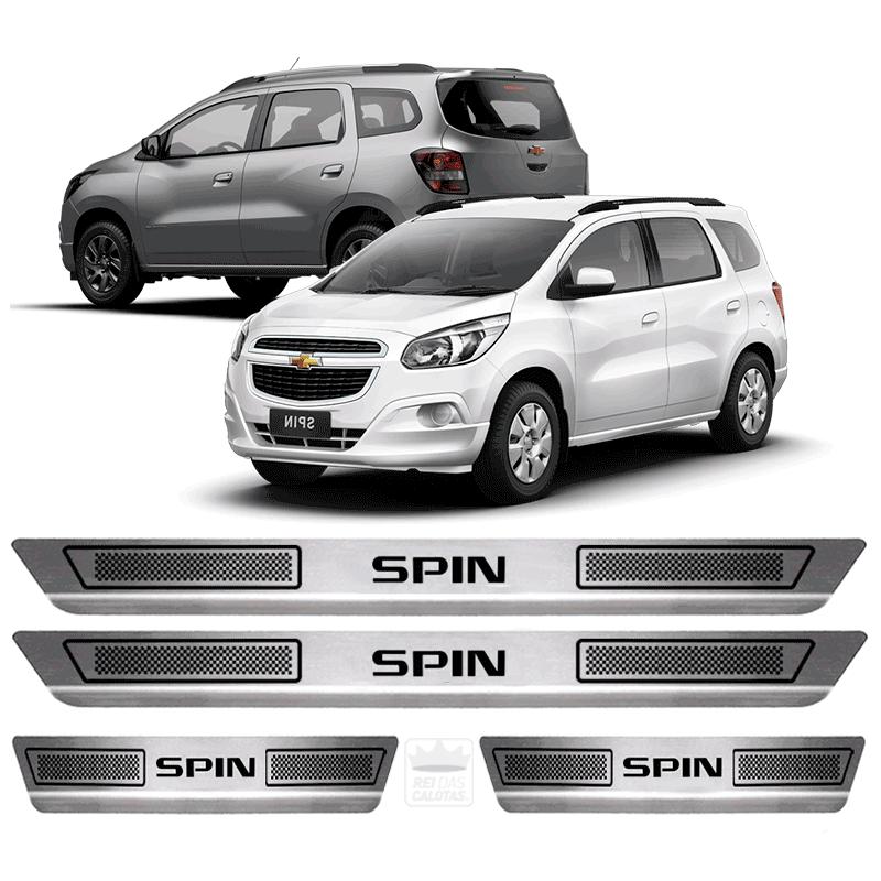 Soleira Aço Inox Chevrolet Spin Lt Ltz 2016 2017 2018 2019