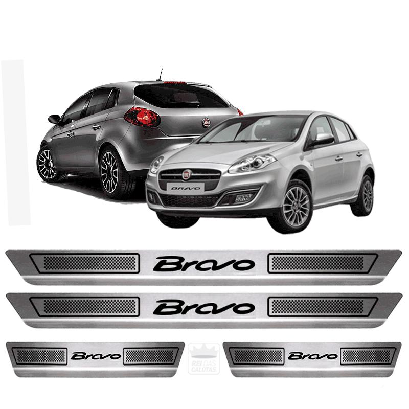 Soleira Aço Inox Fiat Bravo Sporting 2015 2016 2017