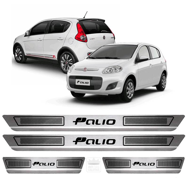 Soleira Aço Inox Fiat Novo Palio Fire 2015 2016 2017