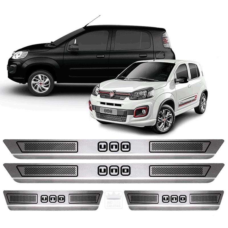 Soleira Aço Inox Fiat Uno Fire Way Economy 2016 2017 2018